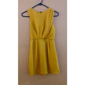 Bar III Mustard Yellow Dress
